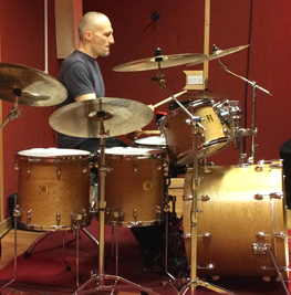 Me drumming at Ascape studio